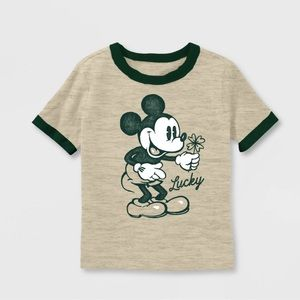 Toddler boy Mickey Mouse green T-shirt 18M